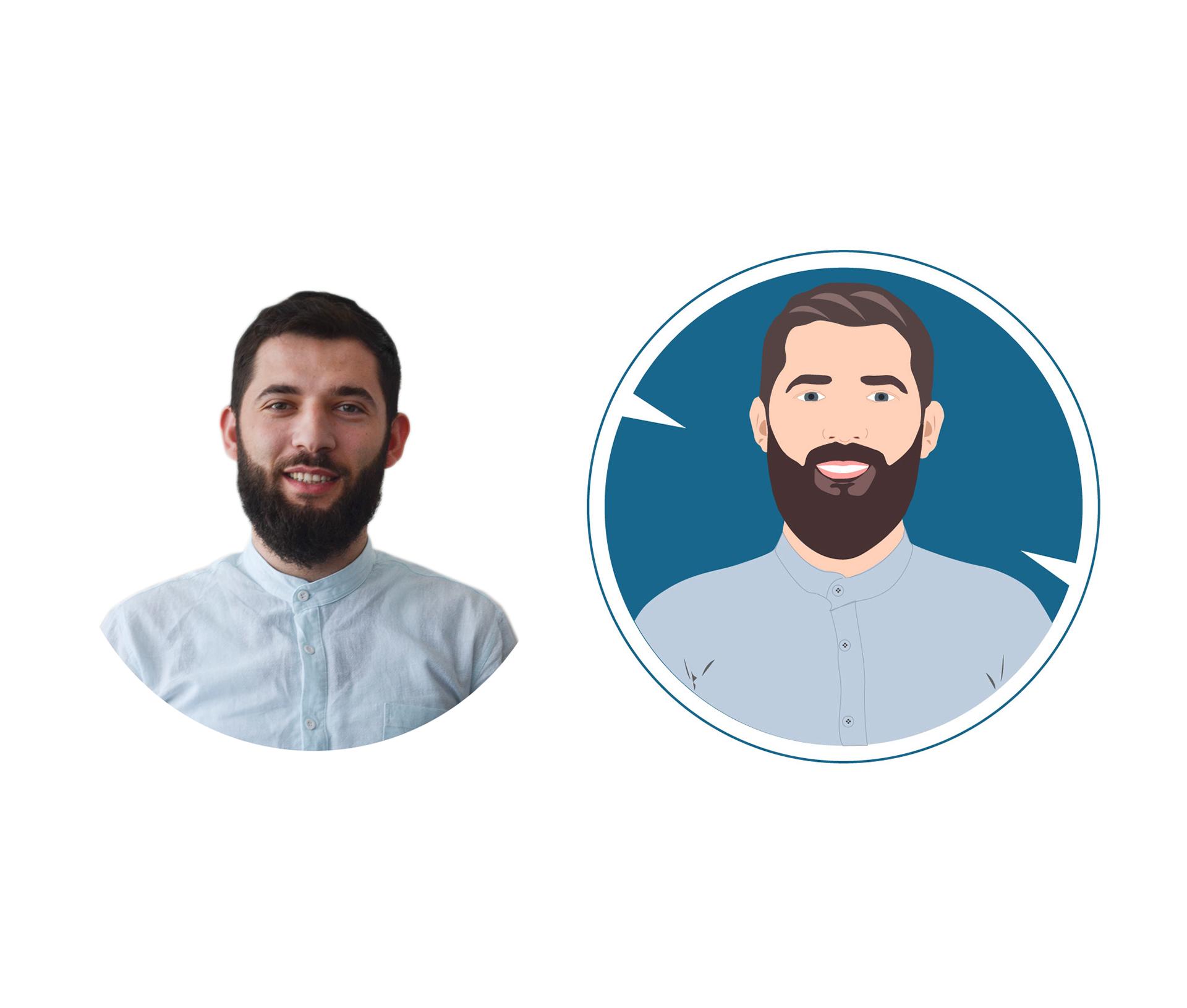Adobe Illustrator Avatar Portre Çalışması