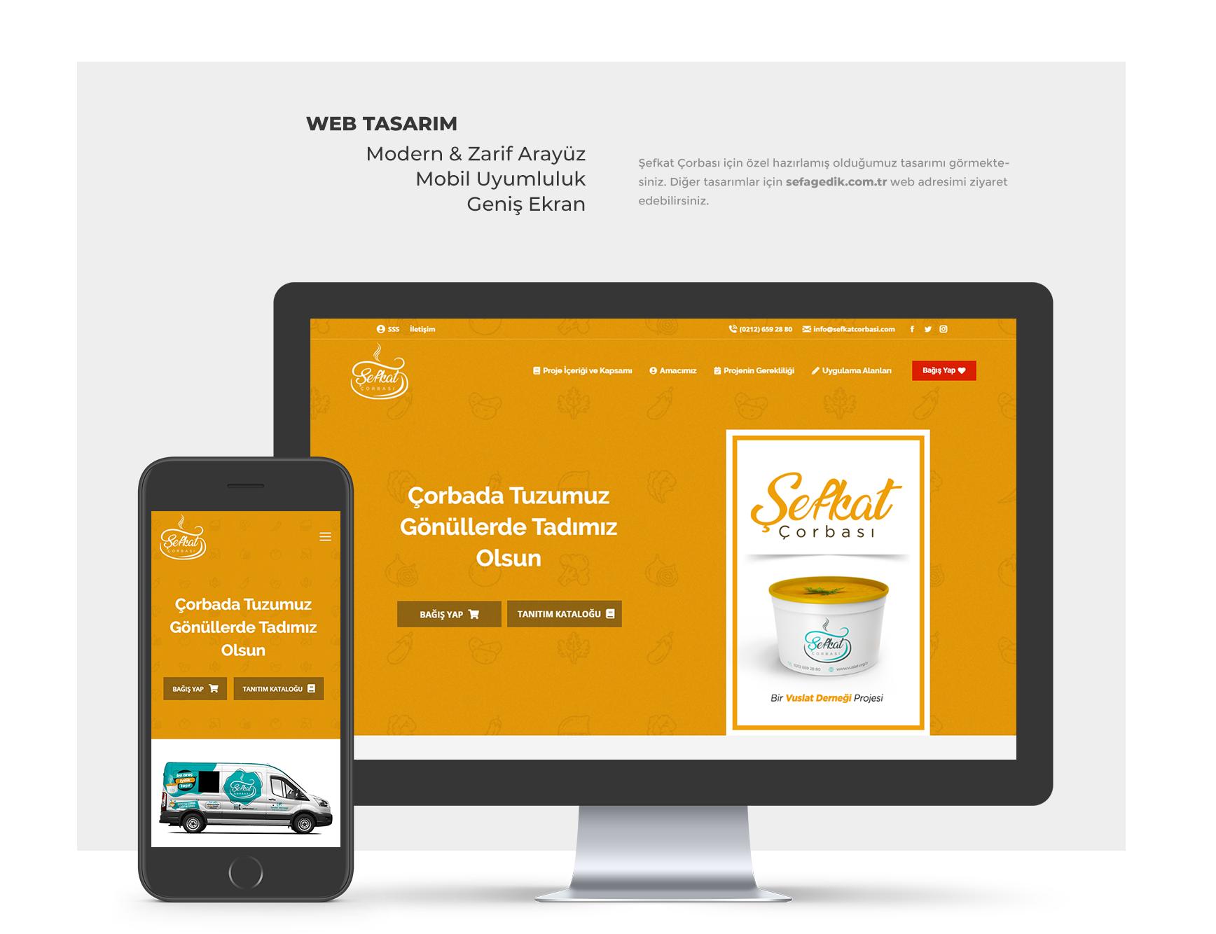 Şefkat Çorbası - Web Tasarım Arayüz Sefa Gedik